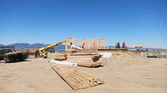 Colorado Springs New Homes, 9890 Highland Glen Framing Begins