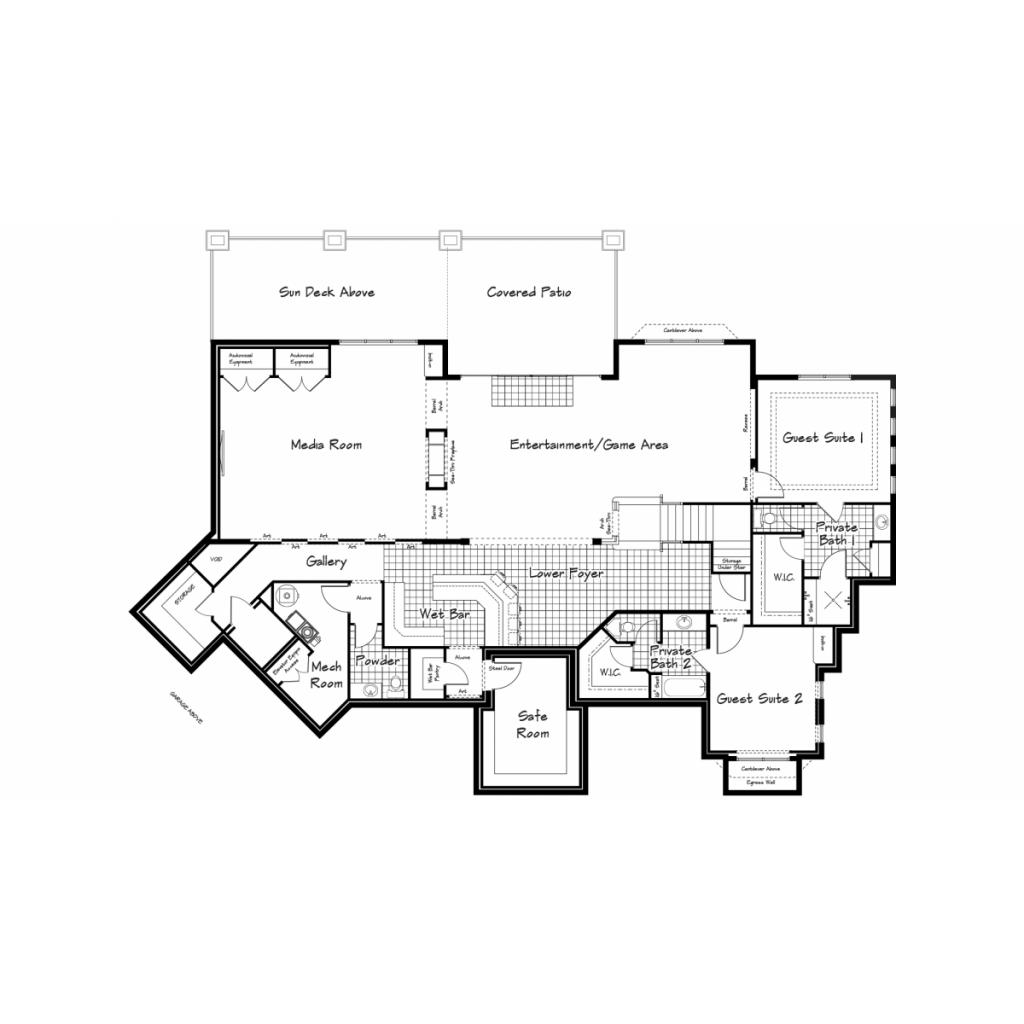Mitchell Lower Level Floorplan