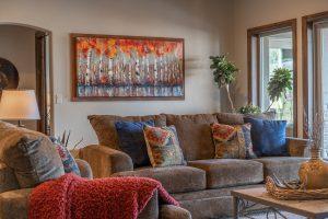 Custom Monument Home Living Room